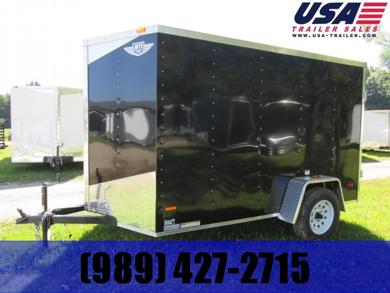 2019 Qualitec 5X8 Black Ramp Door Enclosed Cargo Trailer