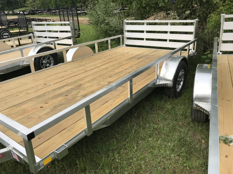 2019 H and H Trailer 82 x 14 Aluminum Utility Trailer