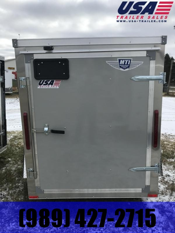 2019 MTI Trailers 5x8 Dove Grey Barn Door Enclosed Cargo Trailer