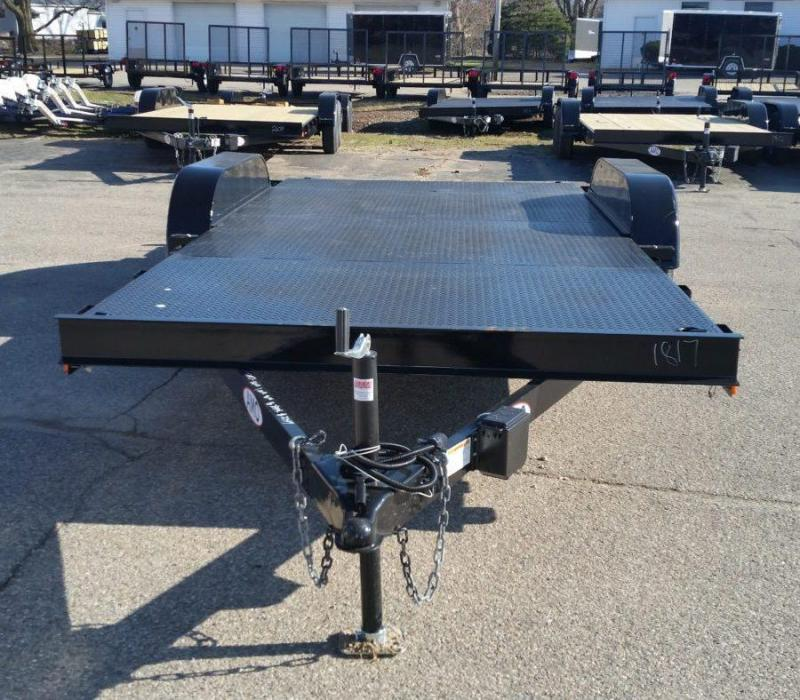 16' A.M.O. Car Hauler Trailer TA1 Steel Deck