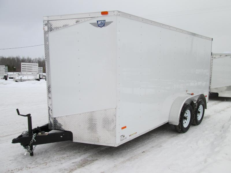 2019 MTI Trailers 7x14 White Ramp With 12 Height Enclosed Cargo Trailer