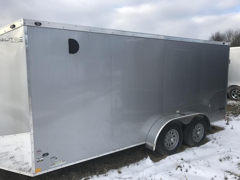 2019 Qualitec 7x16 Silver Ramp Enclosed Cargo Trailer