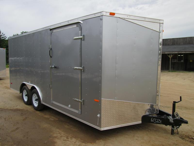 2018 MTI Trailers 7x16 Silver Ramp Enclosed Cargo Trailer