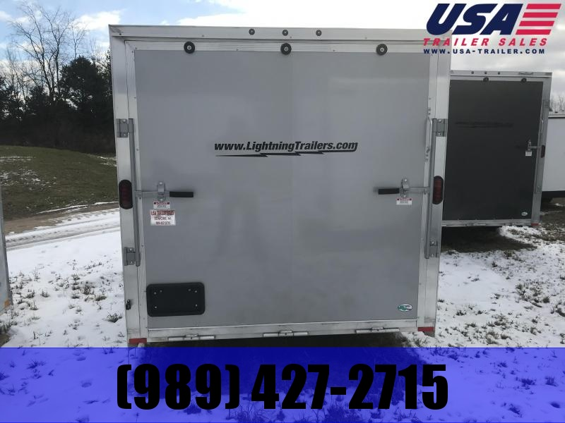 2019 Qualitec 7x16 Silver Ramp added height Enclosed Cargo Trailer