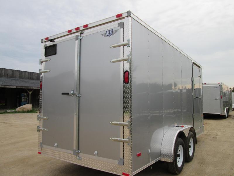 2019 MTI Trailers 7 x 14 Silver Barn Doors Enclosed Cargo Trailer