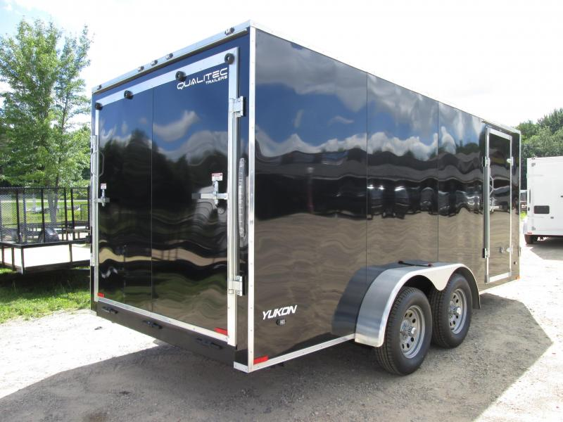 2018 Qualitec 7x14 Black with 12 added Height Enclosed Cargo Trailer
