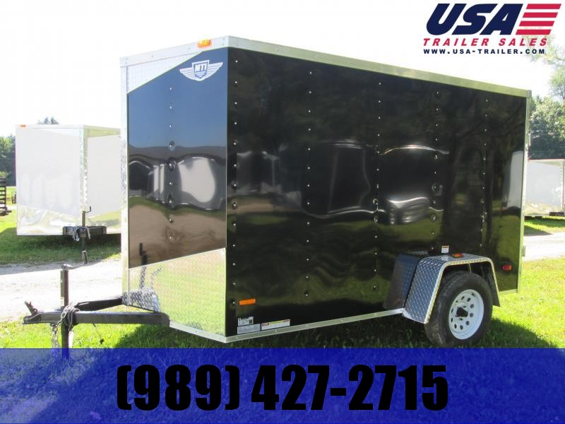2019 MTI Trailers 5x8 Black ramp Enclosed Cargo Trailer