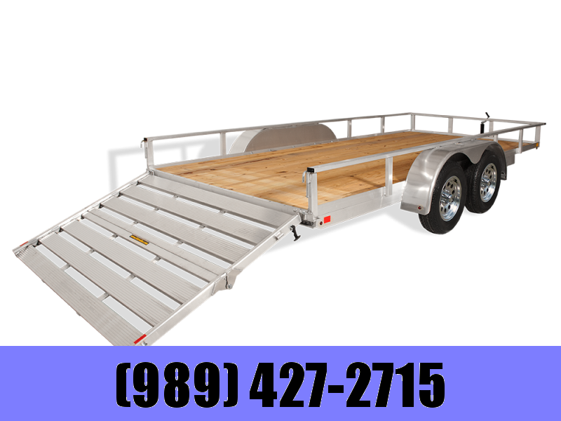 2019 H and H Trailer 82x14 Aluminum Bifold Utility Trailer
