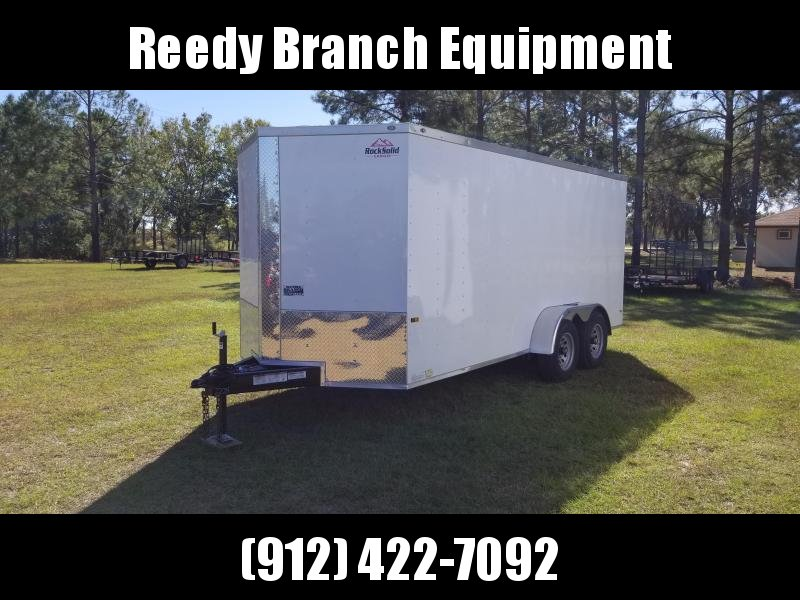 2019 ROCK SOLID CARGO (5200LB AXLES) (6.3 FT HEIGHT) 7X16TA2 Enclosed Cargo Trailer