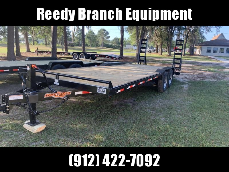 "(2019) 102""x24' Drive Over Fenders Equipment Trailer by Down 2 Earth  in Ashburn, VA"