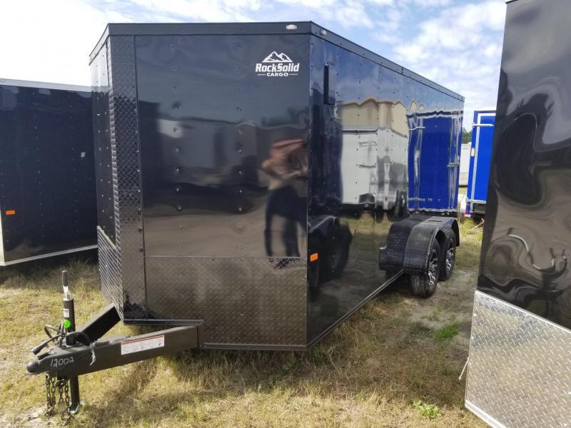 New 7x16 Blackout Elite Rock Solid Cargo