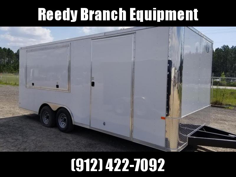 New 8.5x20 5200lb with Concession Doors $9685