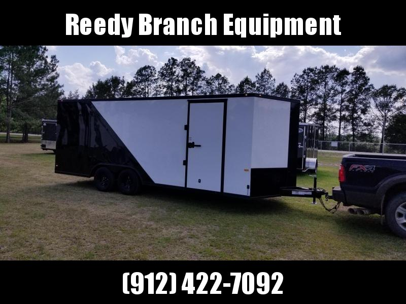 2018 ROCK SOLID CARGO(WHITE/BLACKOUT)8.5X20 CH-3500lb Enclosed Cargo Trailer