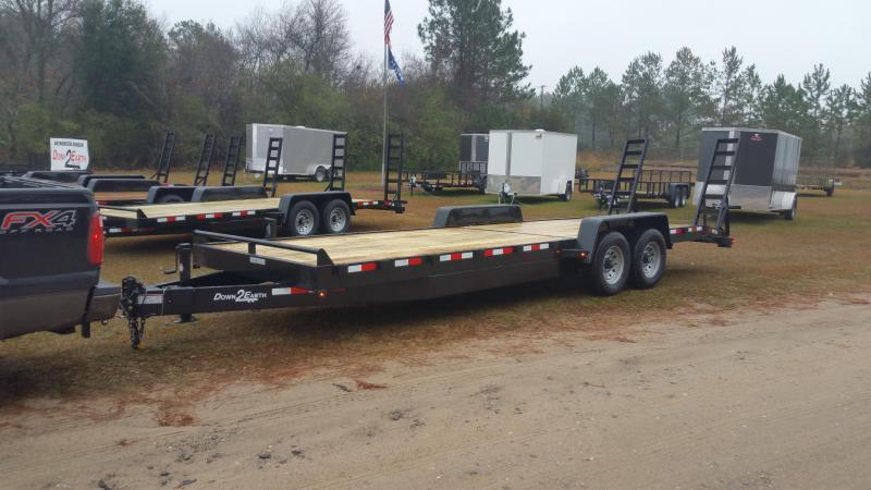 "2019 Down 2 Earth Trailers DTE8212G29(24""MESH SIDES) DOVETAIL Utility Trailer"