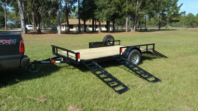 2018 (7000GVWR)(BLACK)(HIGH SIDE MESH)(DOVETAIL) Down 2 Earth Trailers DTE8216UT3.5B Utility Trailer
