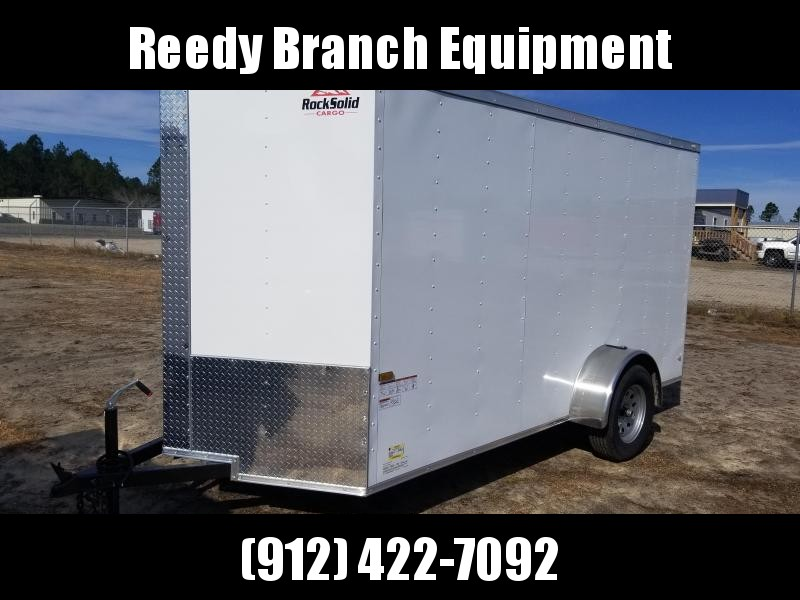 2019 ROCK SOLID CARGO(WHITE/BLACK)FACTORY DIRECT PICKUP 6X12SA-3500LB Enclosed Cargo Trailer in Millwood, GA