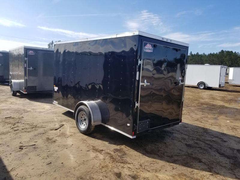 2019 ROCK SOLID CARGO(6X12 BLACK MOTORCYCLE TRAILER)
