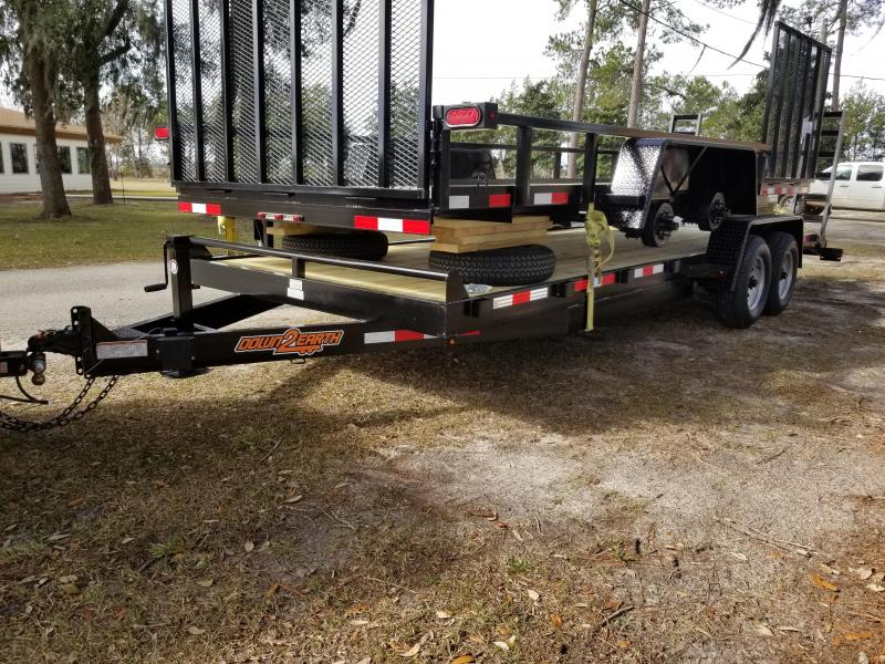 "New 82""x22' Down to Earth Equipment Trailer (10K GVWR)"