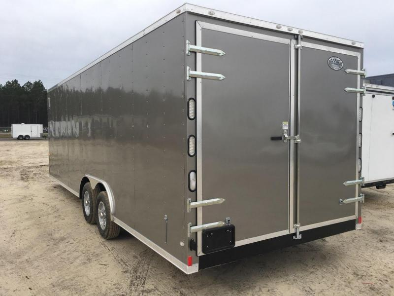 New 8.5x24 5200lb Pewter Enclosed Car Hauler