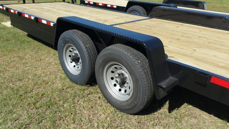 2019 ( Down 2 Earth Trailers (14000LB) DTE8224ER7B Equipment Trailer