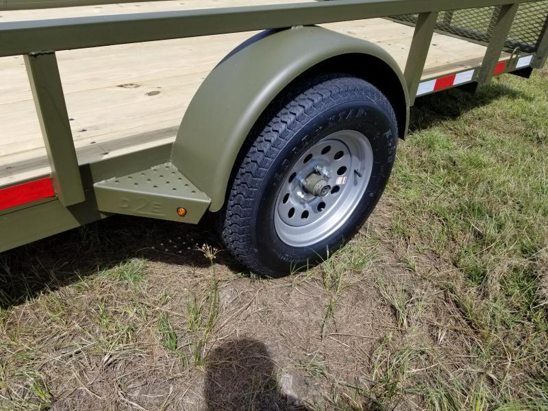 2019 Down 2 Earth Trailers(OLIVE GREEN) DTE8214UGA(SIDE GATE) Utility Trailer