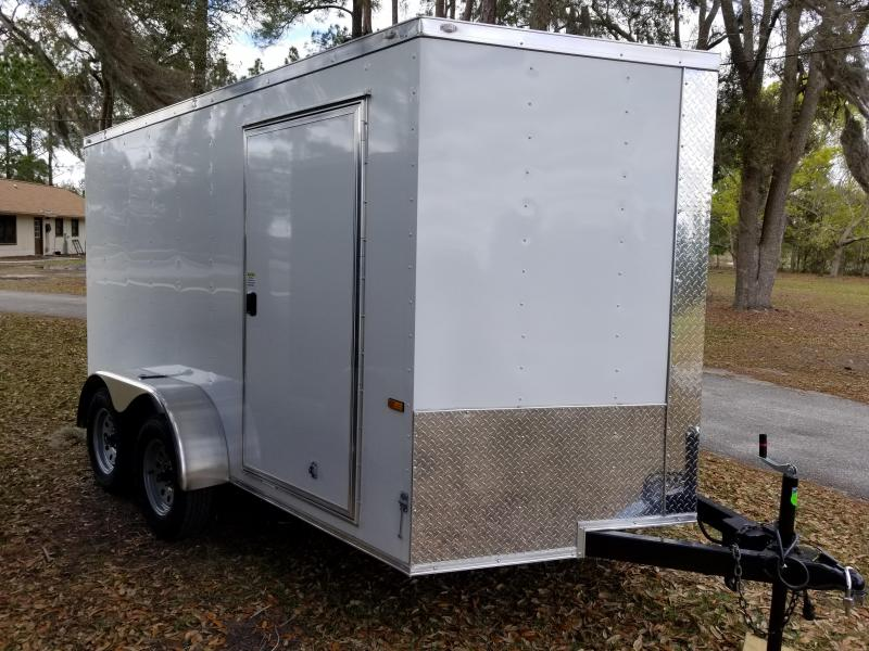 2019 ROCK SOLID CARGO (WHITE) 7x12TA Enclosed Cargo Trailer