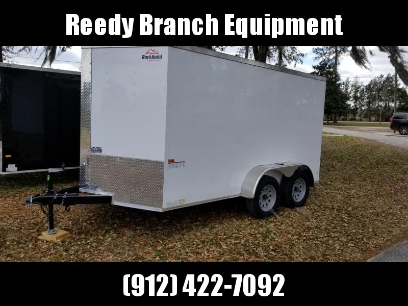 2019 ROCK SOLID CARGO (WHITE) 7x12TA Enclosed Cargo Trailer in Millwood, GA
