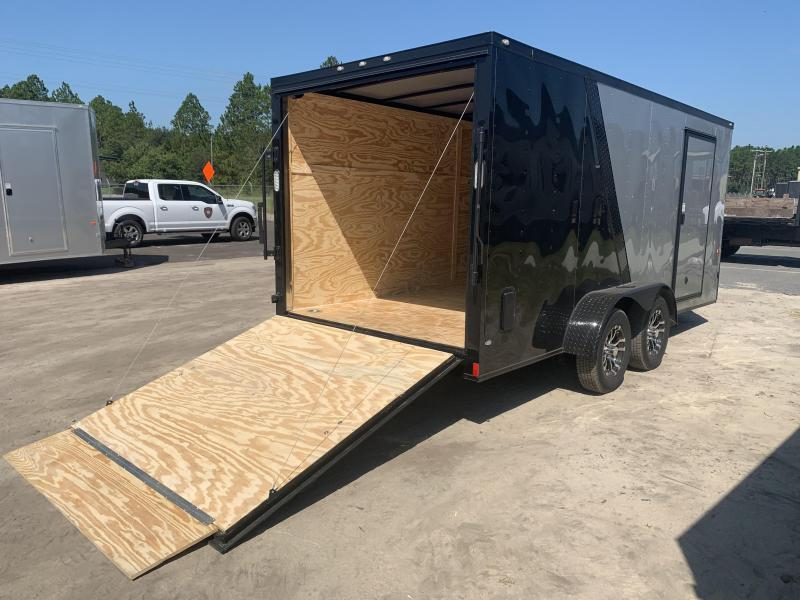 New 7x16-SF/BL. Blackout Elite Enclosed Cargo Trailer