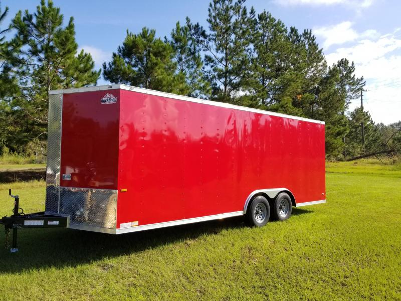 2019 ROCK SOLID CARGO(WHITE OR BLACK)(FACTORY PICKUP DIRECT) 8.5x20 CH-3500lb Enclosed Cargo Trailer
