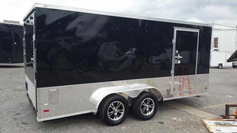 2018 ROCK SOLID CARGO  7X16TA2(BARN DOORS) (SILVER FROST)(6.3FT)Enclosed Cargo Trailer
