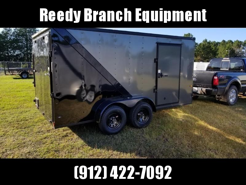 2019 ROCK SOLID CARGO (BLACKOUT PKG/CHARCOAL GREY) 7x14TA Enclosed Cargo Trailer in Millwood, GA