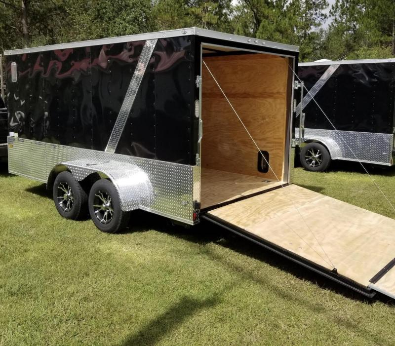 New 7x14 Supreme Edition Motorcycle Trailer