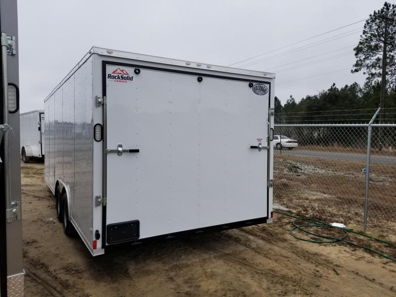 2019 ROCK SOLID CARGO(WHITE OR BLACK)(FACTORY PICKUP DIRECT) 8.5x20 CH-5200lb Enclosed Cargo Trailer