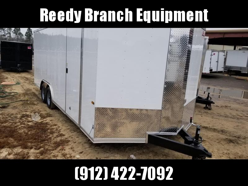2019 ROCK SOLID CARGO(WHITE)(FACTORY PICKUP DIRECT) 8.5x20 CH-5200lb Enclosed Cargo Trailer