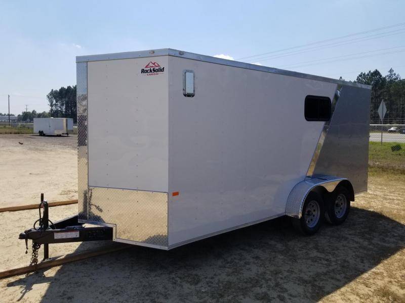 New 7x16 Enclosed Cargo Trailer -White/Silver Frost (Many Upgrades)