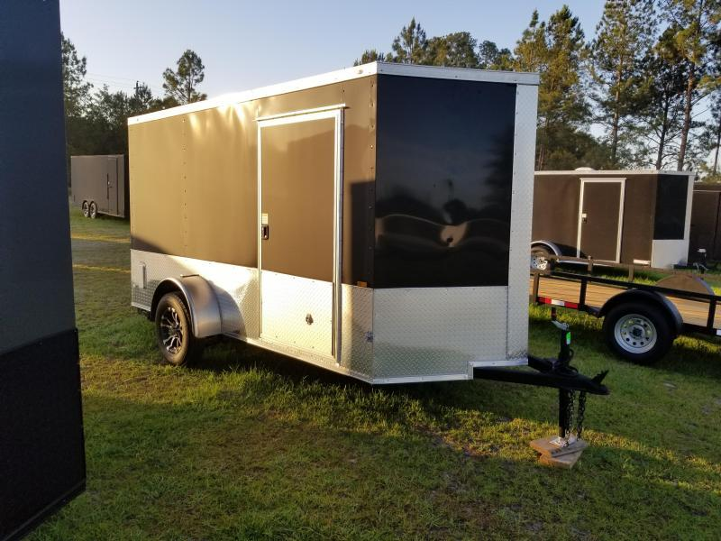 2019 ROCK SOLID CARGO(6X12 SILVER/CHARCOAL GRAY MOTORCYCLE TRAILER)