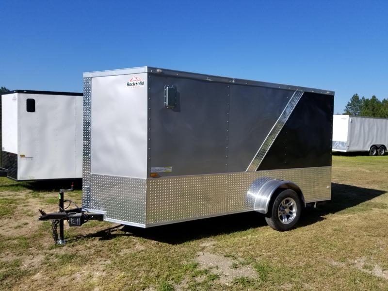 New 6x12 Motorcycle Trailer Rock Solid Cargo