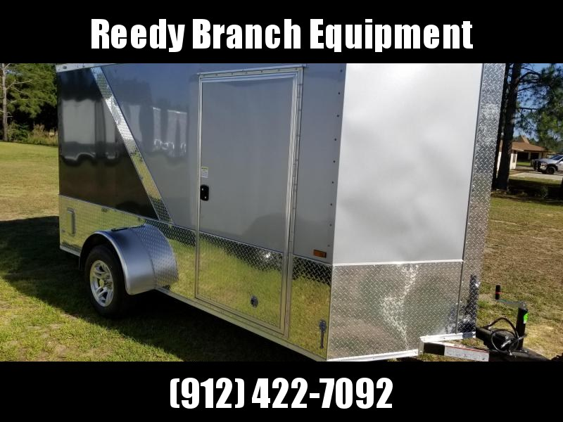 2018 ROCK SOLID CARGO(6X12 SILVER/CHARCOAL GRAY MOTORCYCLE TRAILER)