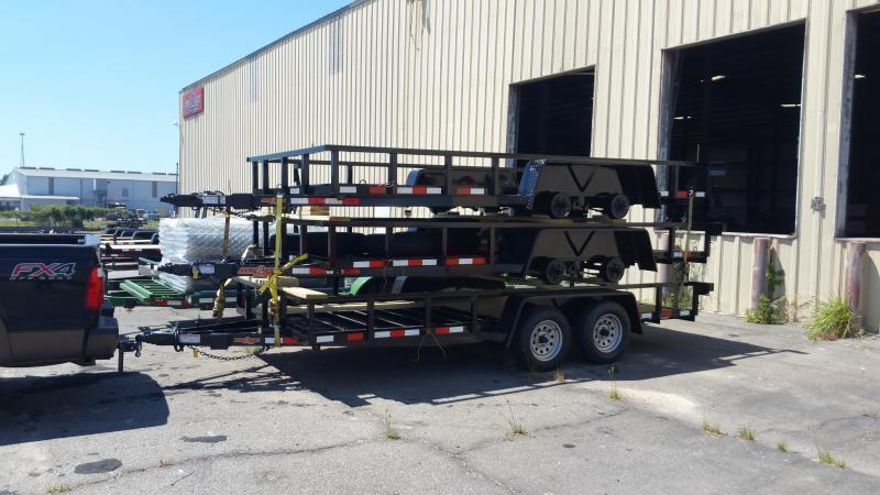 2019 (7000GVWR) Down 2 Earth Trailers(HEAVY DUTY TOP TUBING RAIL) DTE8216UT3.5B Utility Trailer