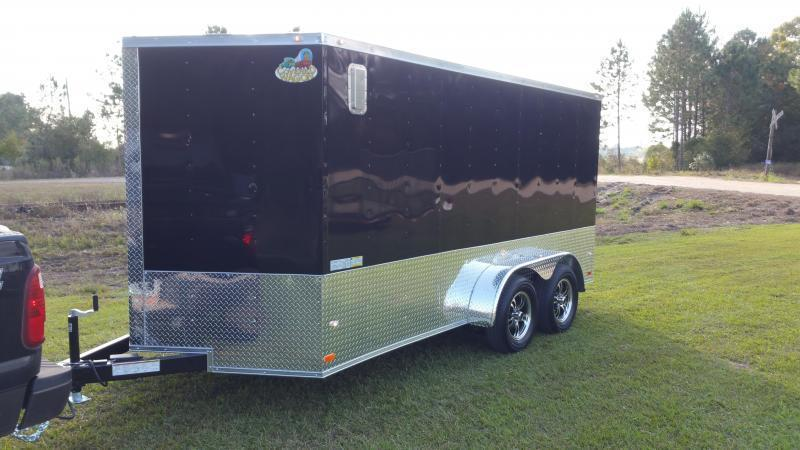 2019 ROCK SOLID CARGO (BLACKOUT EDITION)(WHITE/GRAY) 7x14TA Enclosed Cargo Trailer