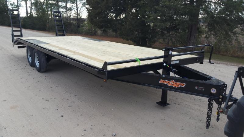 2019(HEAVY RAILS) (7000GVWR) Down 2 Earth Trailers DTE8218UT3.5B Utility Trailer