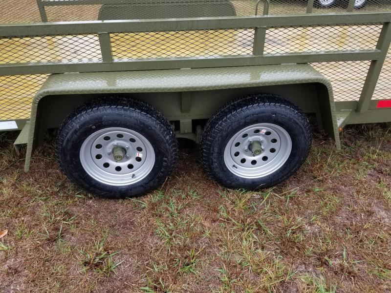 2018 (7000GVWR)(OLIVE GREEN) Down 2 Earth Trailers DTE8216UT3.5B Utility Trailer