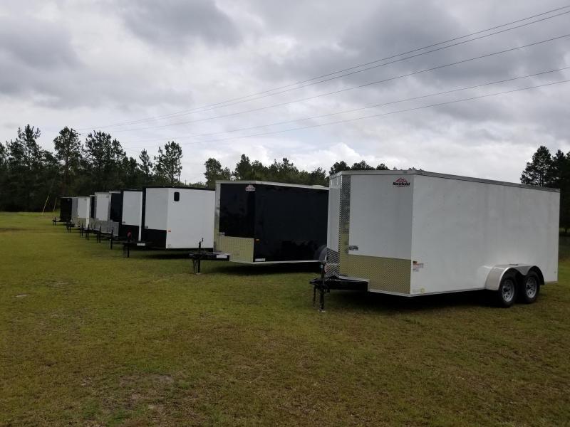 2018(HEAVY DUTY LANDSCAPE STORM/DEBRIS/SKID STEER)) Down 2 Earth Trailers DTE8224ER7B Utility Trailer
