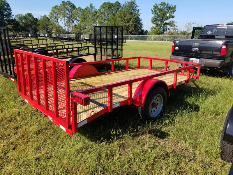 2018 Down 2 Earth Trailers DTE612G29 (RED) DOVETAIL Utility Trailer