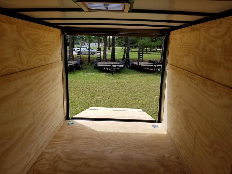 2019 ROCK SOLID CARGO  7X16TA2 (WhiteBlackSilver)(6.3FT)Enclosed Cargo Trailer