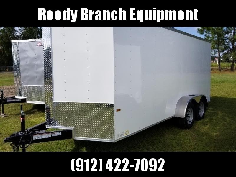 2019 ROCK SOLID CARGO  7X16TA2 (WhiteBlackSilver)(6.3FT)Enclosed Cargo Trailer in Ashburn, VA