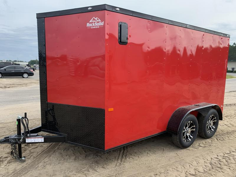 New 6x12TA Red Blackout Elite Enclosed Trailer $3599 (Upgraded Metal)