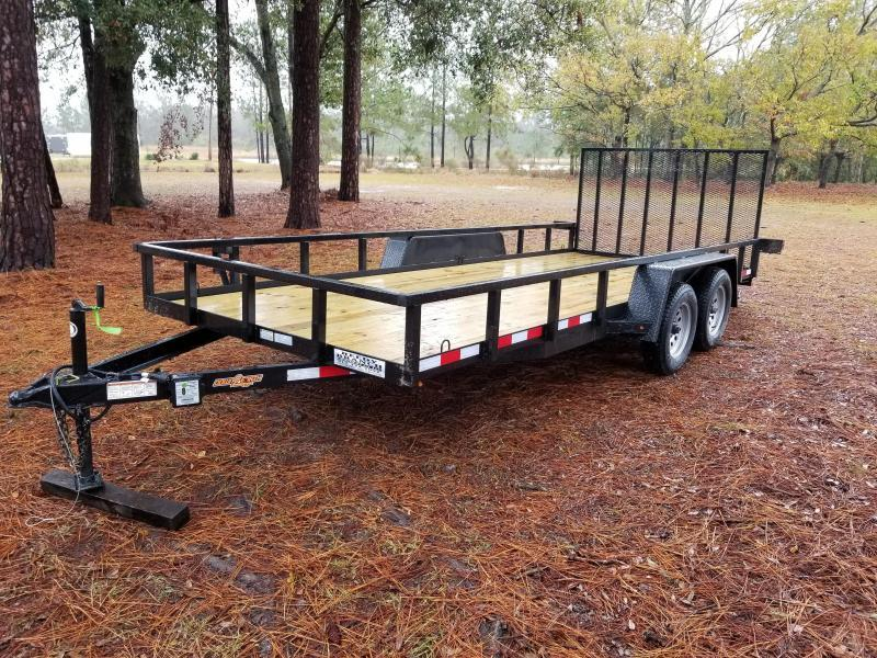 2018(HEAVY RAILS) (7000GVWR) Down 2 Earth Trailers DTE8218UT3.5B Utility Trailer