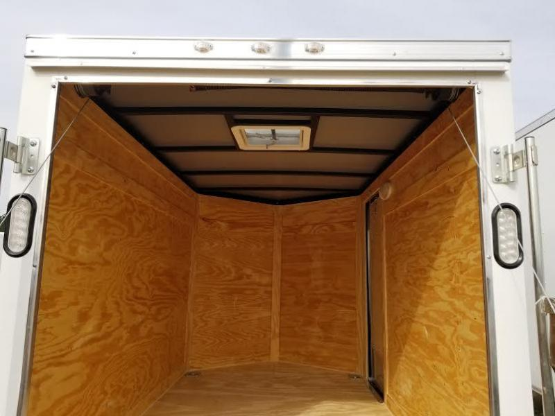 New 5x8 Enclosed Cargo Trailer. Buy an enclosed trailer to keep your tools out of the weather!