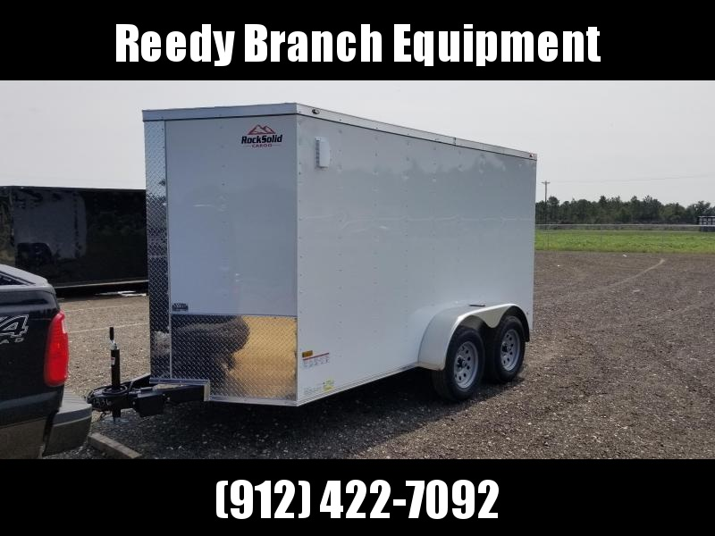 New 6x12 Tandem Axle Enclosed Cargo Trailer (White or Black)  in Millwood, GA